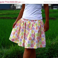 ON SALE Retro Skirt in colorful White, Yellow, Orange, Purple, Green and Pink / Summer Retro Midi Skirt