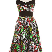 B-Movie Bombshell Retro Halter Dress