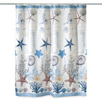 Avanti Antiqua 70-Inch x 72-Inch Fabric Shower Curtain
