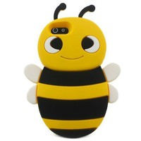 Lovely Yellow 3D Bee Shape Soft Silicone Gel Back Case 001