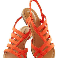 White Sand Shores Sandal in Orange | Mod Retro Vintage Sandals | ModCloth.com