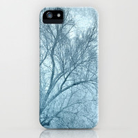 Blue tree iPhone & iPod Case by Guido Montañés