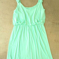 A Lovely Summer Dress in Mint [2704] - $32.00 : Vintage Inspired Clothing & Affordable Summer Frocks, deloom | Modern. Vintage. Crafted.