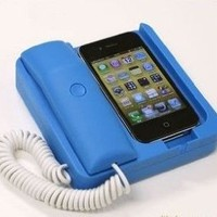 Amazon.com: Tsirtech Phone Handset and Sync Stand for iPhone 4, 3GS, 3G, and Other Wireless Phones with 3.5 mm Headphone Jack Black Tsirtech Phone Handset and Sync Stand for iPhone 4, 3GS, 3G, and Other Wireless Phones with 3.5 mm Headphone Jack Blue: Cell
