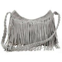 Zicac Fringe Tassel Shoulder Messenger Bag Women Handbag