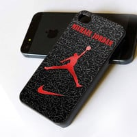 Nike Air Jordan Logo - iPhone Case Print on Hard Cover - iPhone 4 Case - iPhone 4S Case - iPhone 5 Case