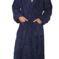 Arus Men's and Women's Hood'n Full Ankle Length Hooded Turkish Cotton Bathrobe
