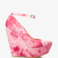 Tie-Dye Pointed Wedges