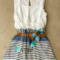 Swing & Stripe Dress [3882] - $32.00 : Vintage Inspired Clothing & Affordable Summer Frocks, deloom | Modern. Vintage. Crafted.