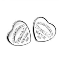 Amazon.com: Tiffany & Co Sterling Silver Heart Charm Stud Earring: Arts, Crafts & Sewing