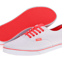 Vans Authentic™ Lo Pro (Neon) Coral/True White - Zappos.com Free Shipping BOTH Ways