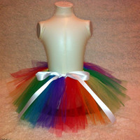 Rainbow Birthday Tutu for Girls by Dressupcastle on Etsy