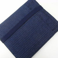 ipad Case / ipad  Cover / Blue Denim Stripe Sleeve by pomella