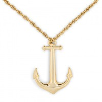 C. Wonder | Anchors Away Pendant Necklace