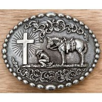M&F Western Products Inc.® Cowboy Prayer Buckle