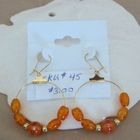 Orange Glass Bead Earrings | pattysdreamdesigns - Jewelry on ArtFire