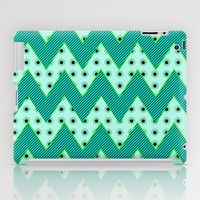 Chevron Mint iPad Case by Alice Gosling