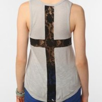 Sparkle &amp; Fade Lace Cross Tank