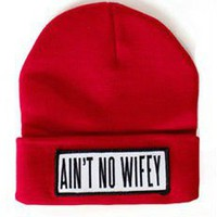 Ain't No Wifey Beanie in Red