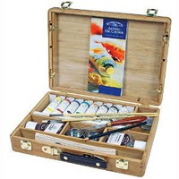 Winsor & Newton Artists Oil Color Bamboo Box Set