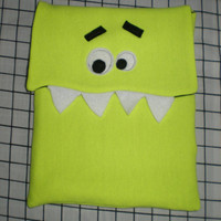Ipad Cover Sleeve Protector Monster Fleece flourescent