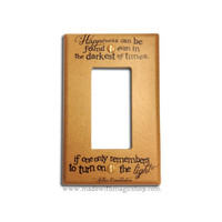 Turn On The Light (Brown) - Wizard Inspired Rocker Style Switch Plate