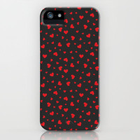 Hearts Pattern #3 iPhone & iPod Case by Ornaart