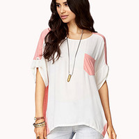 Boxy Linen & Georgette Top
