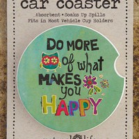 Happy Car Coaster From Natural Life