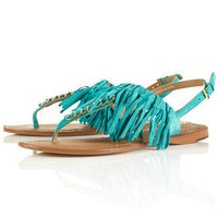 FRINGE Leather Tassle Sandals - Flat Sandals - Flats  - Shoes - Topshop USA