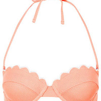 Tangerine Scallop Bikini Top - Swimwear  - Clothing