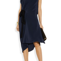 Vionnet | Draped silk crepe de chine dress | NET-A-PORTER.COM