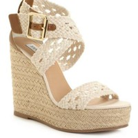 Steve Madden Women&#x27;s Shoes, Magestee Wedge Sandals - Sandals - Shoes - Macy&#x27;s