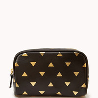 Metallic Triangle Print Cosmetic Pouch | FOREVER 21 - 1056872083
