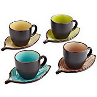Product Details - Leaf Teacup &amp; Saucer - set of 4