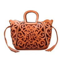 Fashion Floral Cutout Handbag - OASAP.com