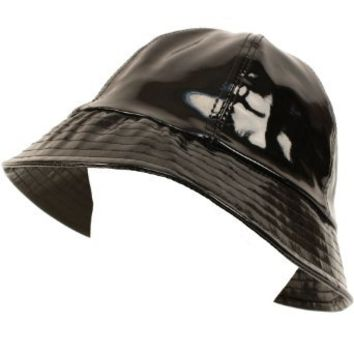 Amazon.com: Rain Bucket Hat Cap Waterproof Packable Adjustable Black: Clothing