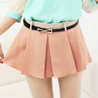 Fold Chiffon Mini Short/Skirt