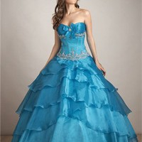 Fashion with Pleats Deep Sweetheart Ball Gown Quinceanera Dress QD0103