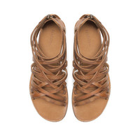 STRAPPY FLAT SANDALS - Shoes - TRF | ZARA United States