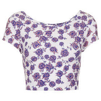 Floral Bardot Crop - New In This Week  - New In