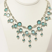Romantic Aqua Blue Wedding Necklace