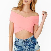 Flux Crop Top - Peach