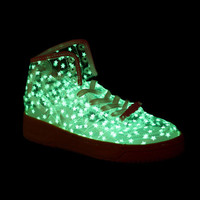 Women's Adidas ObyO Jeremy Scott JS Wings Clear Noctilucent Shoes [JS-A020] :