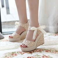 Sweet Lave Bowknot High Heel Sandals