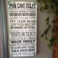 Man cave rules, Shop rules, Garage rules, Shed rules, Basement rules, dad, father, grandpa ....make it yours....same price