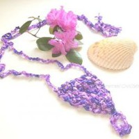 Crochet Sandals Bohemian Sandal Lavender Ladder Yarn Barefoot Sandals by MoomettesCrochet