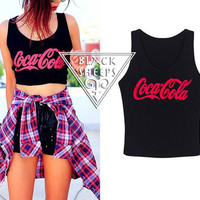 """COCA COLA"" BLACK TANK from Blacksheep"