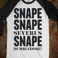 Snape-Unisex White/Black T-Shirt