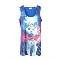 Galaxy Cat Tank Top